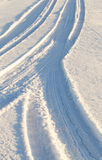Road in the snow Stock Photography
