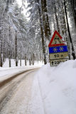 Road with snow Stock Photos