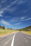 Road through Snowy Mountains. Scenery visible from a road that passes through the Snowy Mountains in Australia stock photography