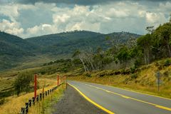Road through the Snowy Mountains National Park, NSW stock image