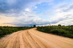 Road soil stock image