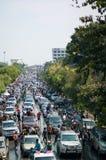 The road on Songkran festival Stock Photo