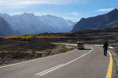 Road from Sost to Pasu in Northern Pakistan Royalty Free Stock Photography