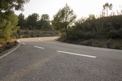 Road in Sot de Ferrer. In Castellon stock image