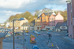 Road south from Inverness. An image of the road, B865, in the centre of Inverness leading South to the A9 and onwards to Perth and Edinburgh Stock Photos