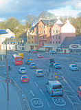 Road south from Inverness showing speed limits. An image of the road, B865, in the centre of Inverness leading South to the A9 and onwards to Perth and Royalty Free Stock Images