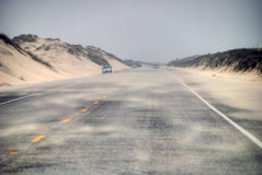 Road in South Padre Island Royalty Free Stock Photography
