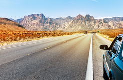 Road in Southern Nevada. Near Las Vegas, summer time, USA Stock Photography