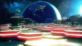 The road space near the planet earth stock footage