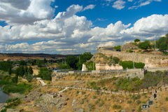The road. The Spanish city Toledo Royalty Free Stock Image