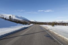 On the road to Narvik, Norway Stock Image