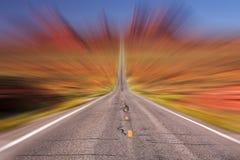 Road speed stock photo