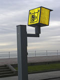 Road speed camera. The most unpopular sight in Britain stock images