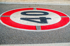 Road speed limit mirking Stock Images