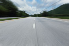 Road with speed motion blur Stock Photos