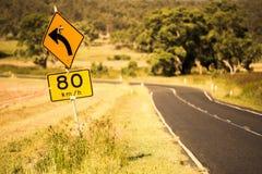 Road speed sign in Queensland Stock Image