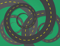 Road Spirals Royalty Free Stock Image