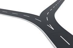 Road splitting up vector illustration