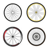 Road and Sport Bike Wheels and Tires Royalty Free Stock Image