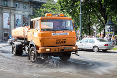 Road Spraying Royalty Free Stock Images