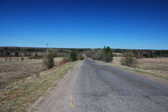 Road spring Russia Royalty Free Stock Photos