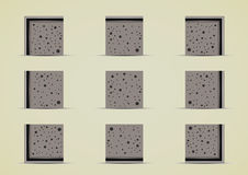 Road sprites for creating video game. Road tile set for creating video game Stock Image