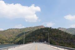 Road in Srinakarin dam Royalty Free Stock Image