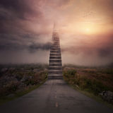 Road stairs Royalty Free Stock Image