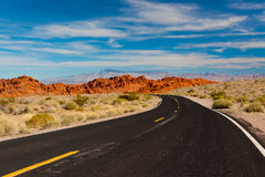 Road into stone desert. Valley of Fire State Park, Nevada, USA Stock Photography