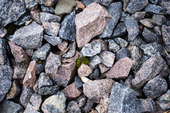 Road stone gravel texture to background. For your Royalty Free Stock Photography