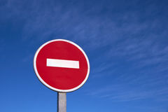 Road stop sign Stock Photos