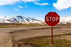 Road  stop  sign Royalty Free Stock Images