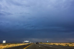 Road and stormy weather Stock Photography