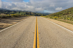 Road Straight Forward in California Stock Images