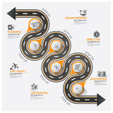 Road And Street Business Travel Curve Route Infographic Diagram Royalty Free Stock Photo