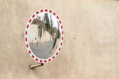 Road in street mirror Stock Photos
