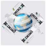 Road And Street Runway Travel And Journey World Map Business Inf Royalty Free Stock Photography