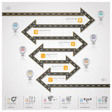 Road And Street Traffic Sign Arrow Step Business Infographic Stock Images