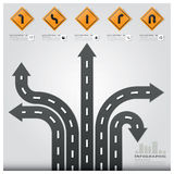 Road And Street Traffic Sign Business Infographic Design Templat Stock Photos