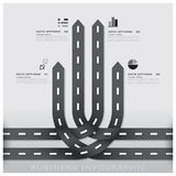 Road And Street Traffic Sign Business Infographic Design Templat Royalty Free Stock Photos