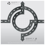 Road And Street Traffic Sign Business Infographic Design Template royalty free illustration