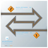 Road & Street Traffic Sign Business Infographic Stock Photography