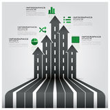 Road And Street Traffic Sign Business Infographic. Design Template Stock Photos