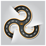 Road And Street Traffic Sign Business Infographic Stock Image