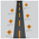 Road And Street Traffic Sign Business Infographic. Design Template Stock Images