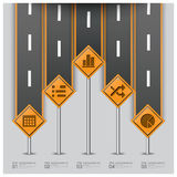 Road And Street Traffic Sign Business Infographic Royalty Free Stock Photo