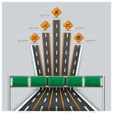 Road And Street Traffic Sign Business Travel Infographic. Design Template Royalty Free Stock Photography
