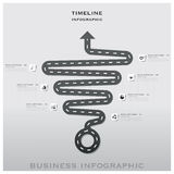 Road And Street Traffic Sign Timeline Business Infographic Desig Stock Photography