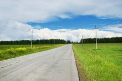 The road stretches into the distance Stock Image