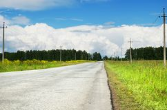 The road stretches into the distance Stock Photo